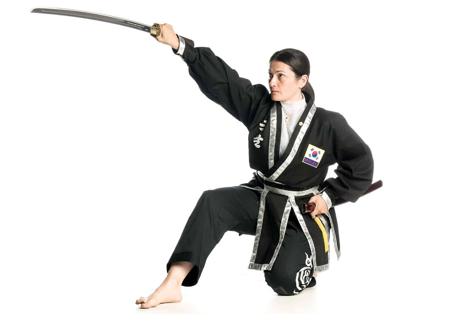 Justine Watson Kuk Sool Won Black belt weapons training