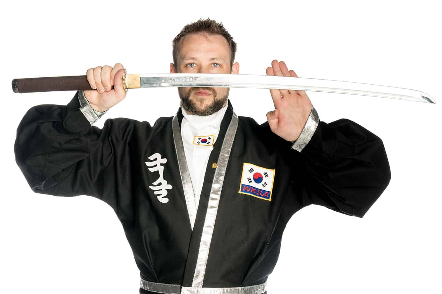 Scott McManus with Kuk Sool Won Weapon
