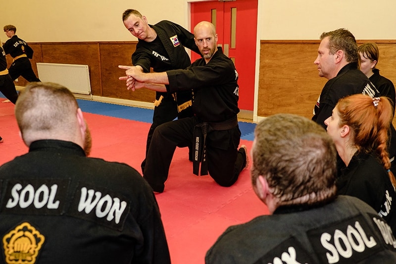 Graeme Temple Kuk Sool Won school owner teaching martial arts.